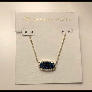 Elisa Blue Drusy Necklace